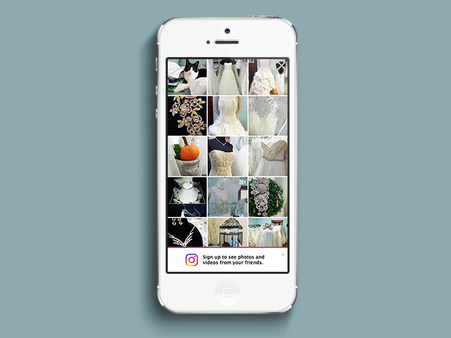Clever Bride Consignments' Instagram page