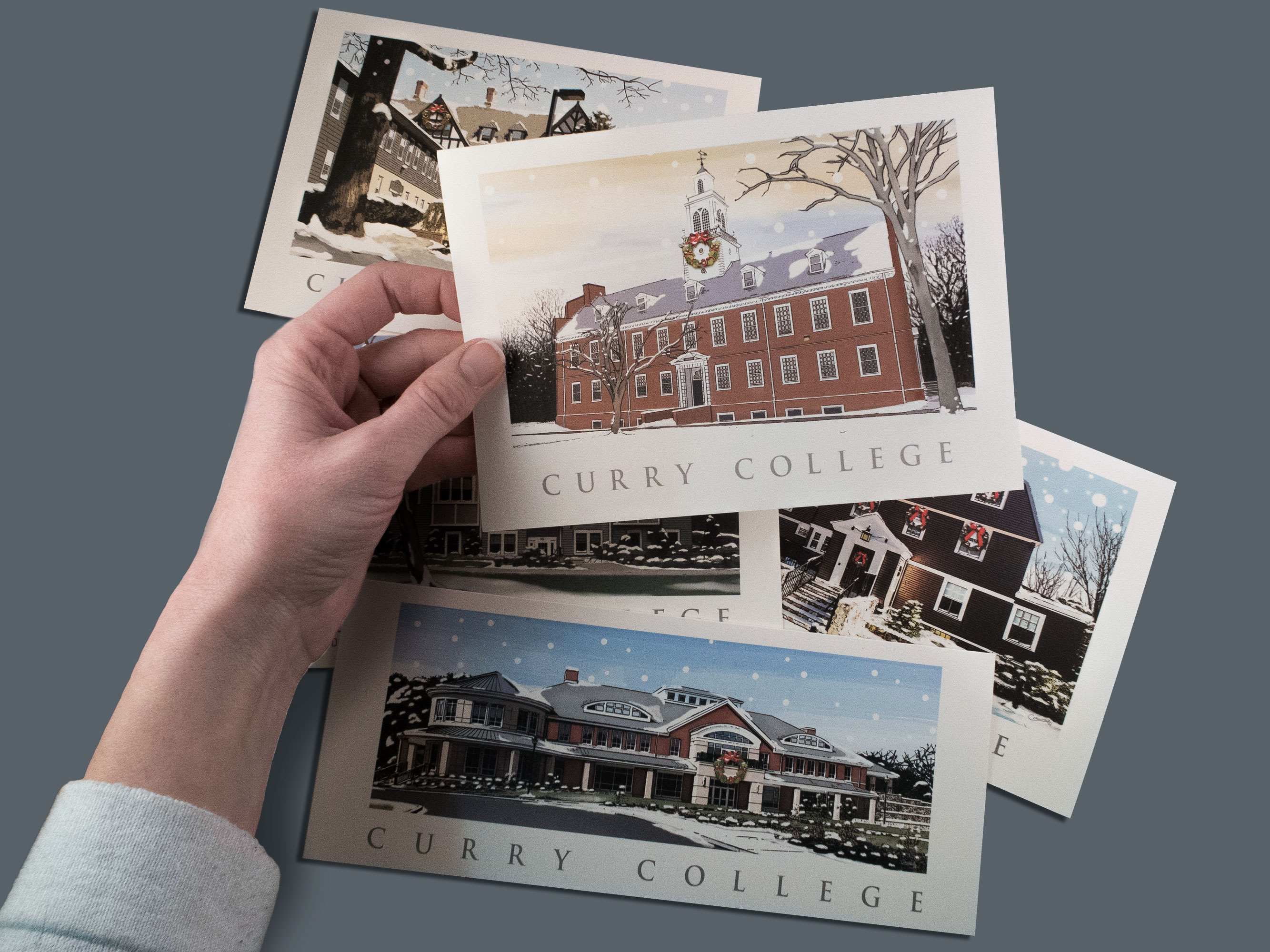Curry College Holiday Card Set